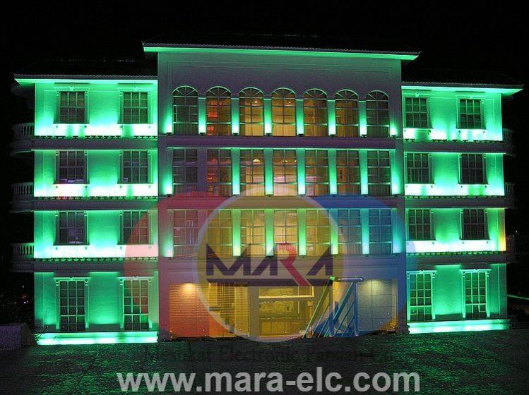 نور پردازی نمای ساختمان با وال واشر