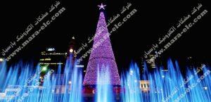المان نوری مخروطی ویژه نور پردازی میدان با اسنفاده از ریسه های سوزنی
