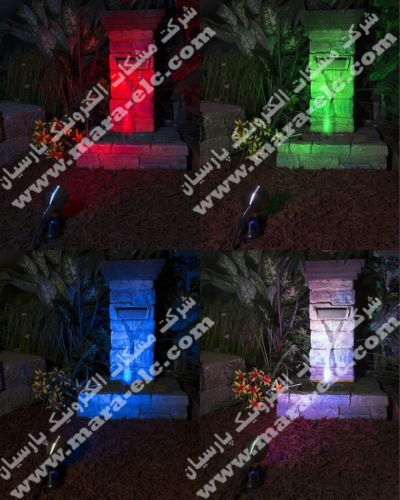 نور پردازی تمام رنگ با استفاده از پرژکتور مولتی