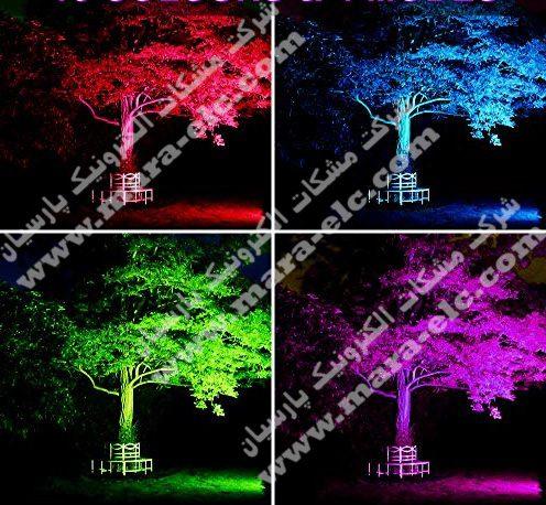 نور پردازی فول کالر درخت